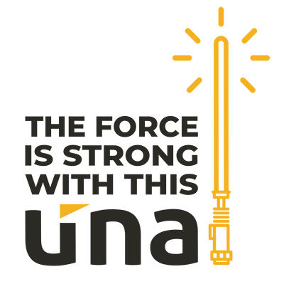 the force is strong with this una
