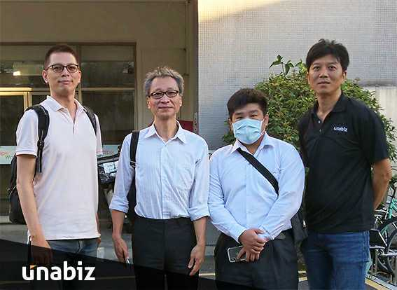 Michael Chang, Long HsingChung, Lin Yutang and Harry Hsu during the smart water meter reader development